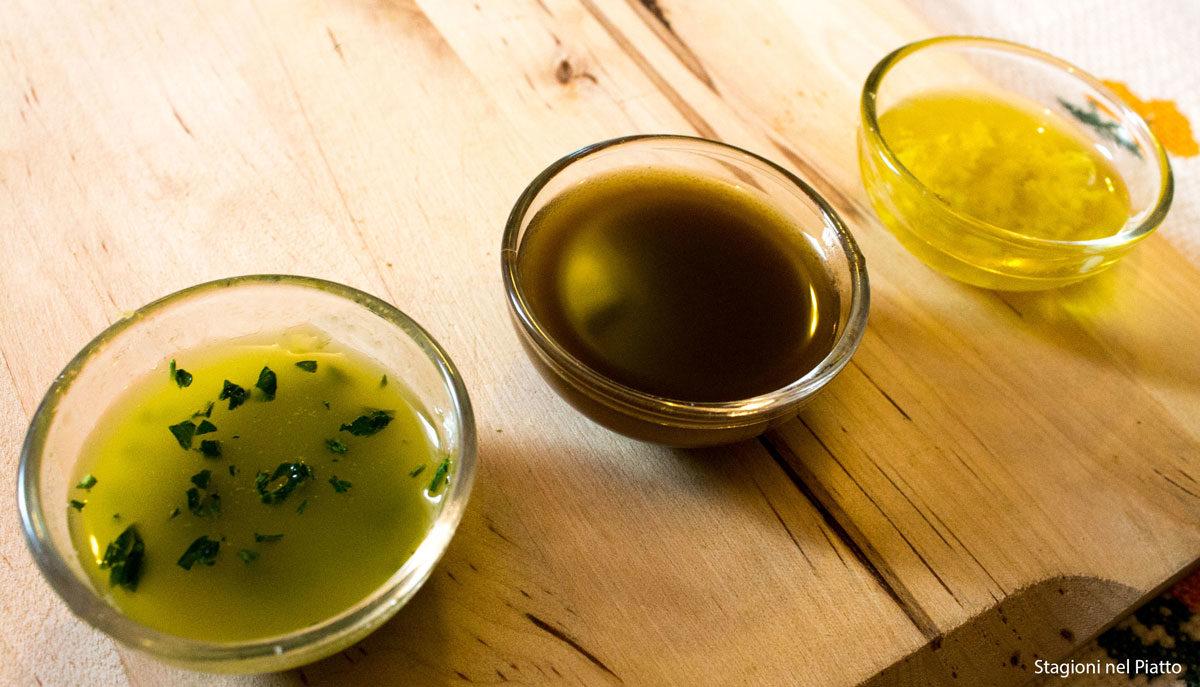 salsine di accompagnamento per farro zucchine e gamberi