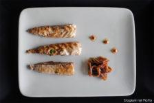 Sgombri marinati con scalogno e zenzero