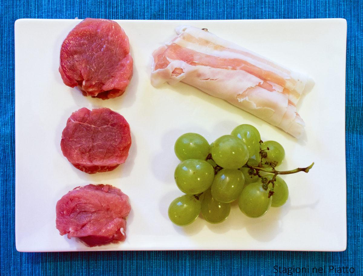ingredienti filetto di maiale all'uva