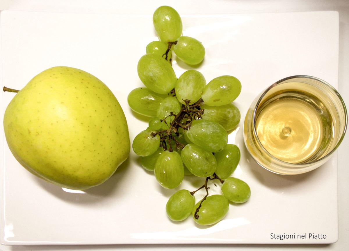 ingredienti gelatina di uva al vino bianco