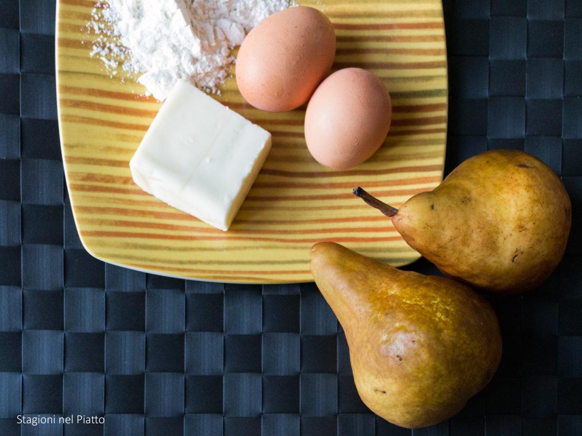 ingredienti crostatine con pera e zenzero