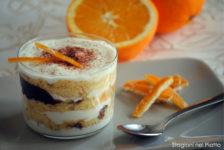 Dessert di panettone con crema all'arancia