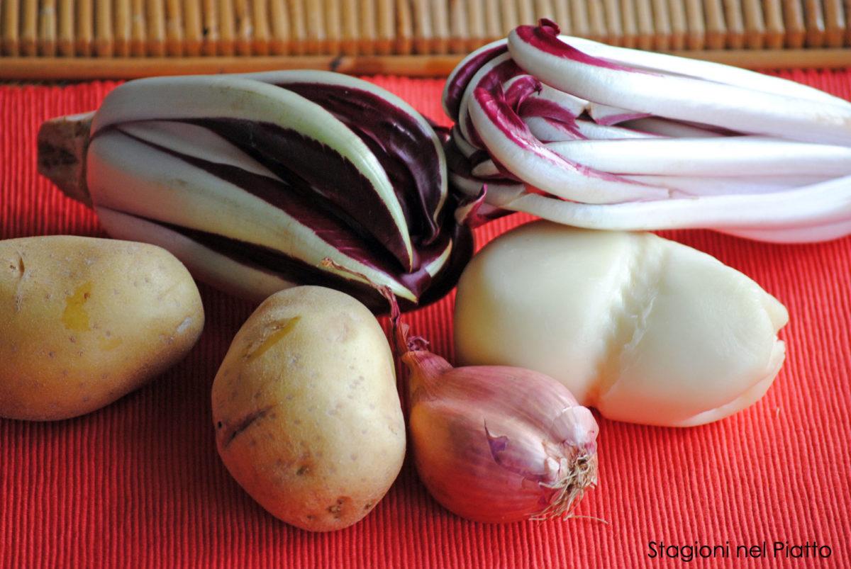 Ingredienti patate ripiene di radicchio e scamorza