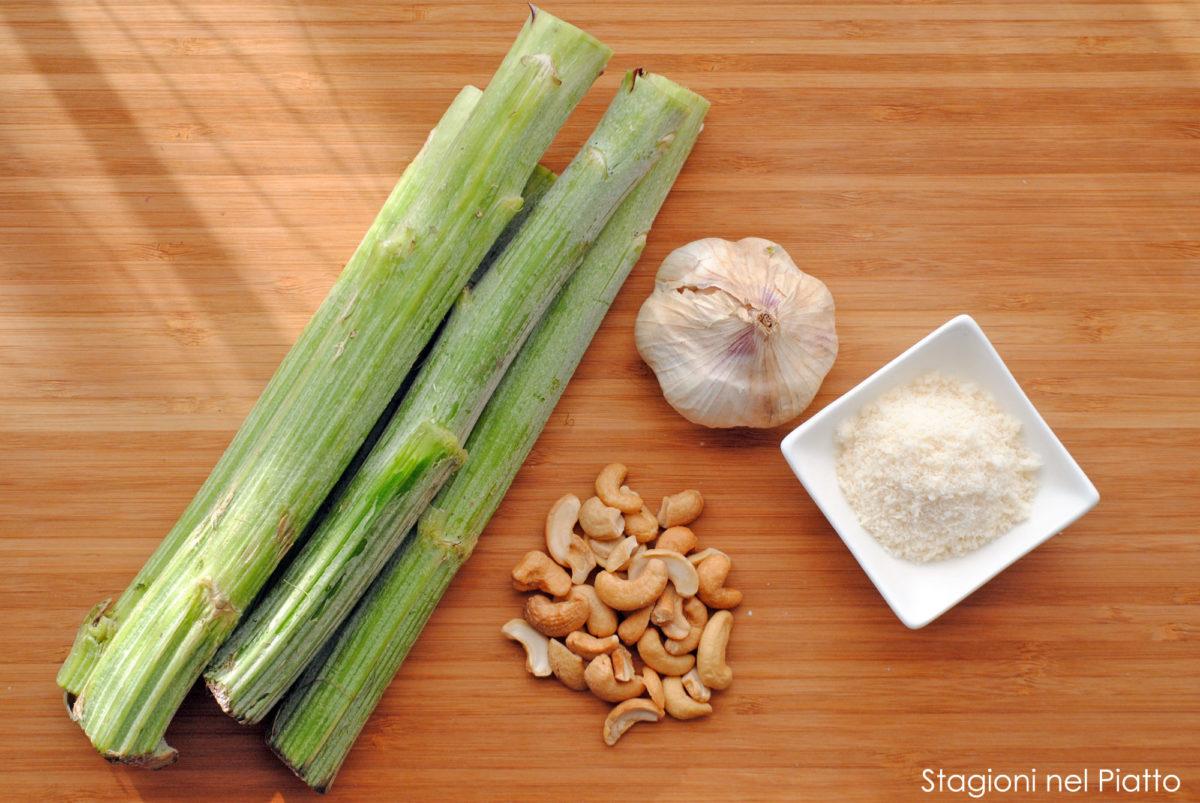 Ingredienti crema di carciofi e anacardi