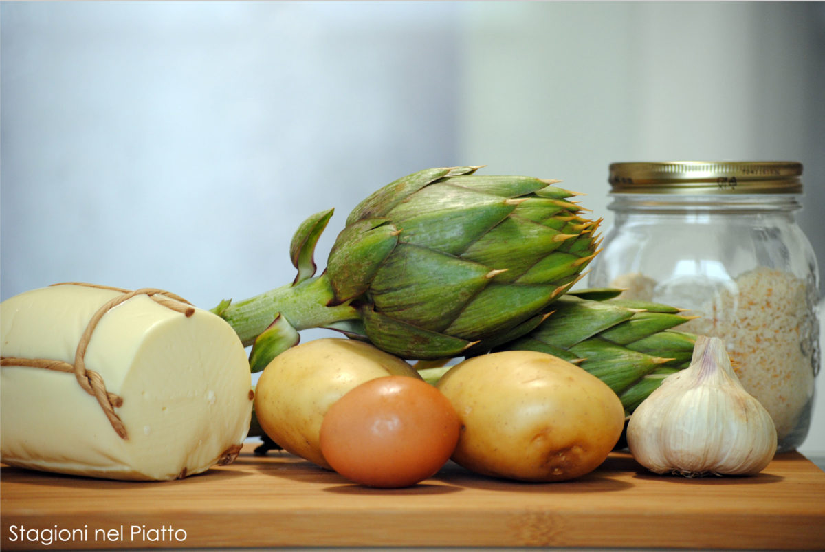 Ingredienti tortino di patate e carciofi