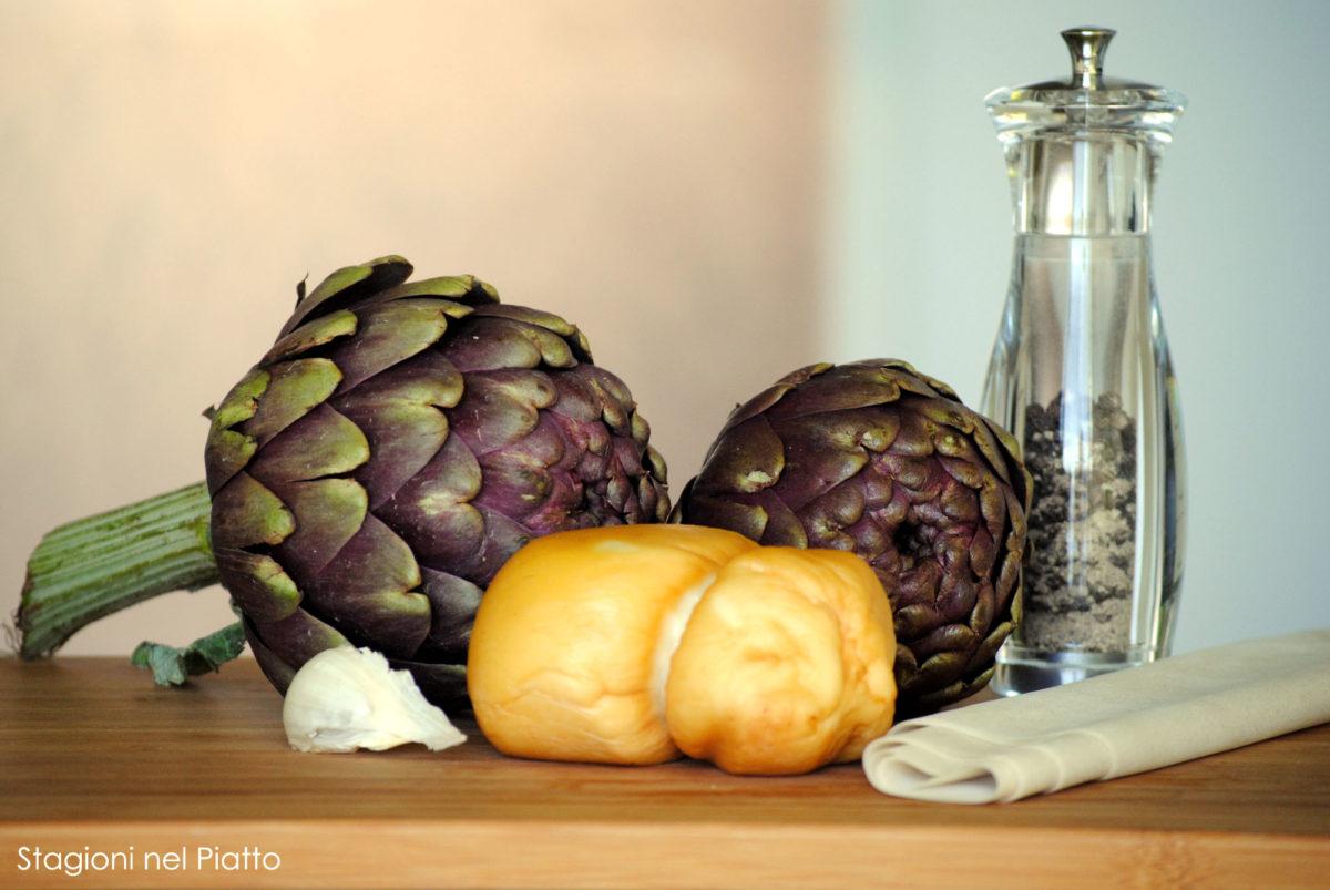 ingredienti-cestini-carciofi-scamorza-stagioni-nel-piatto