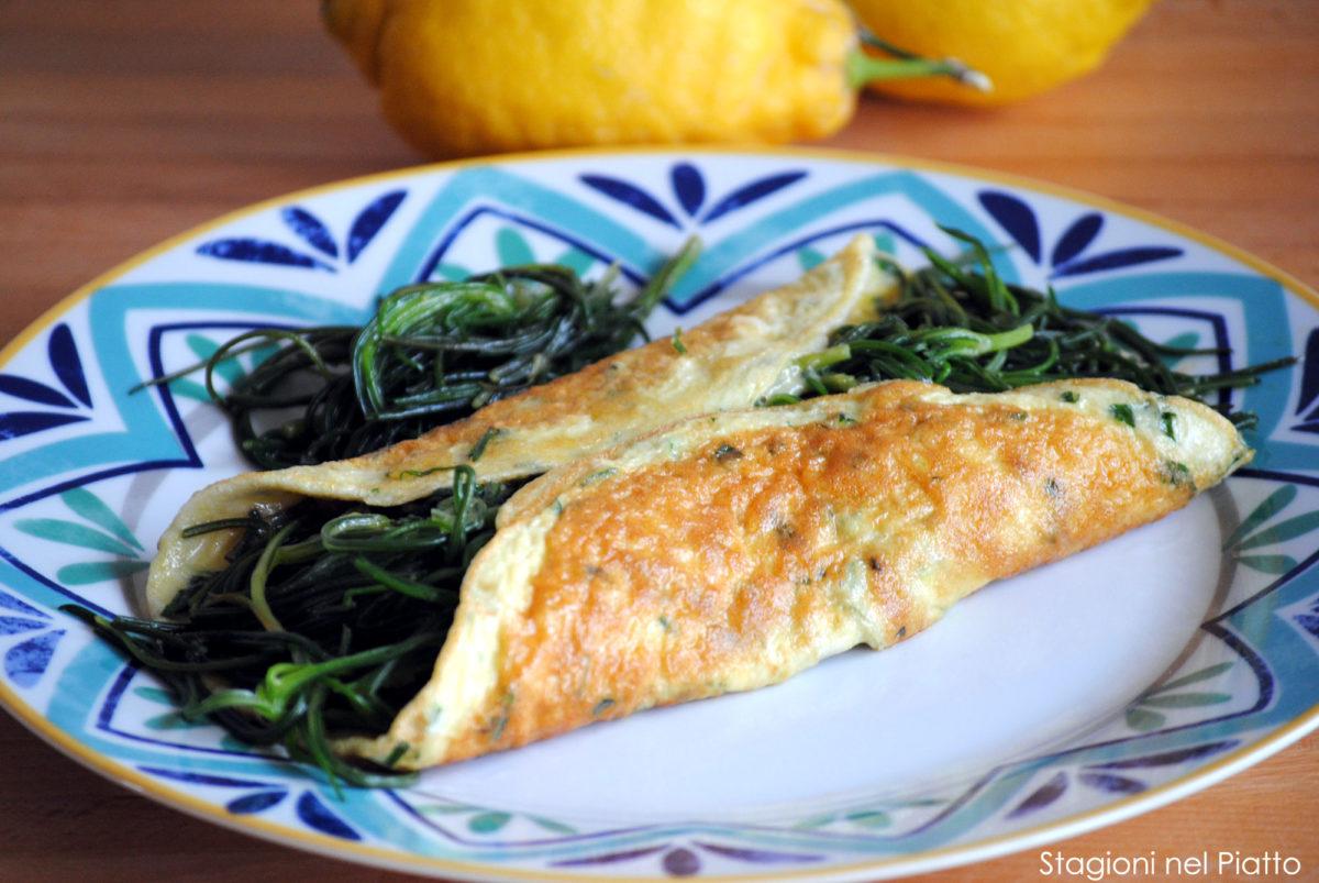 Omelette con agretti al profumo di limone