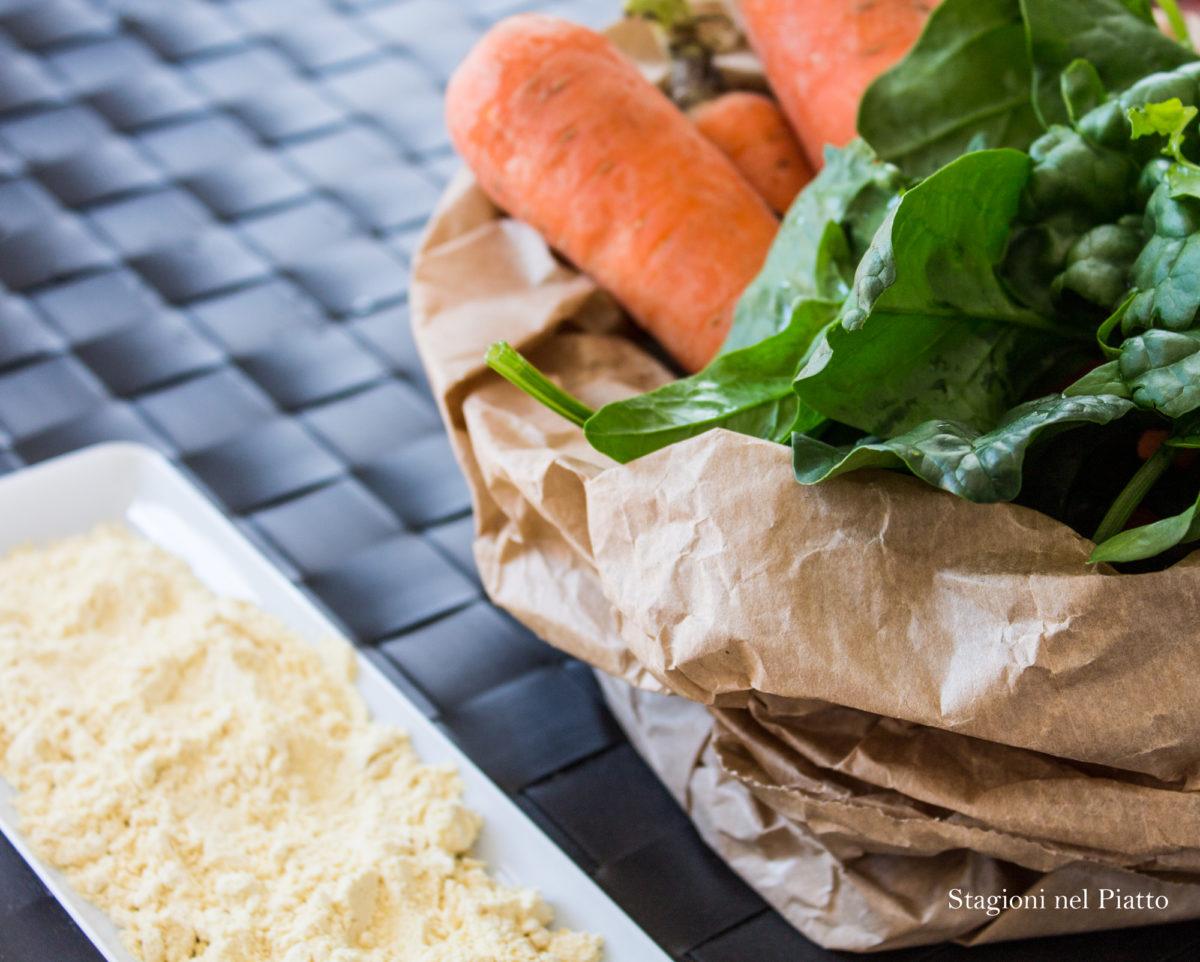 ingredienti farinata alle carote