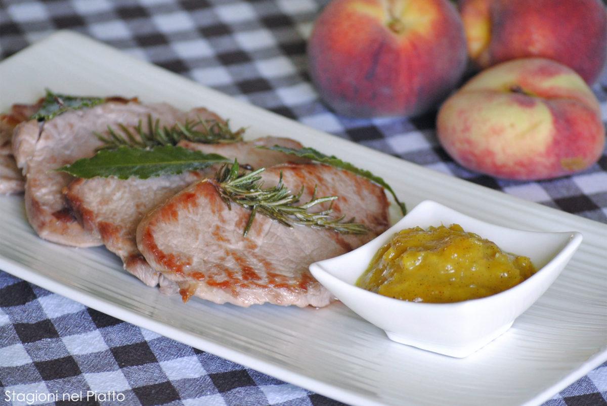 Filetto di maiale con chutney di pesche - Stagioni nel Piatto