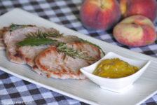 filetto di maiale con chutney di pesche