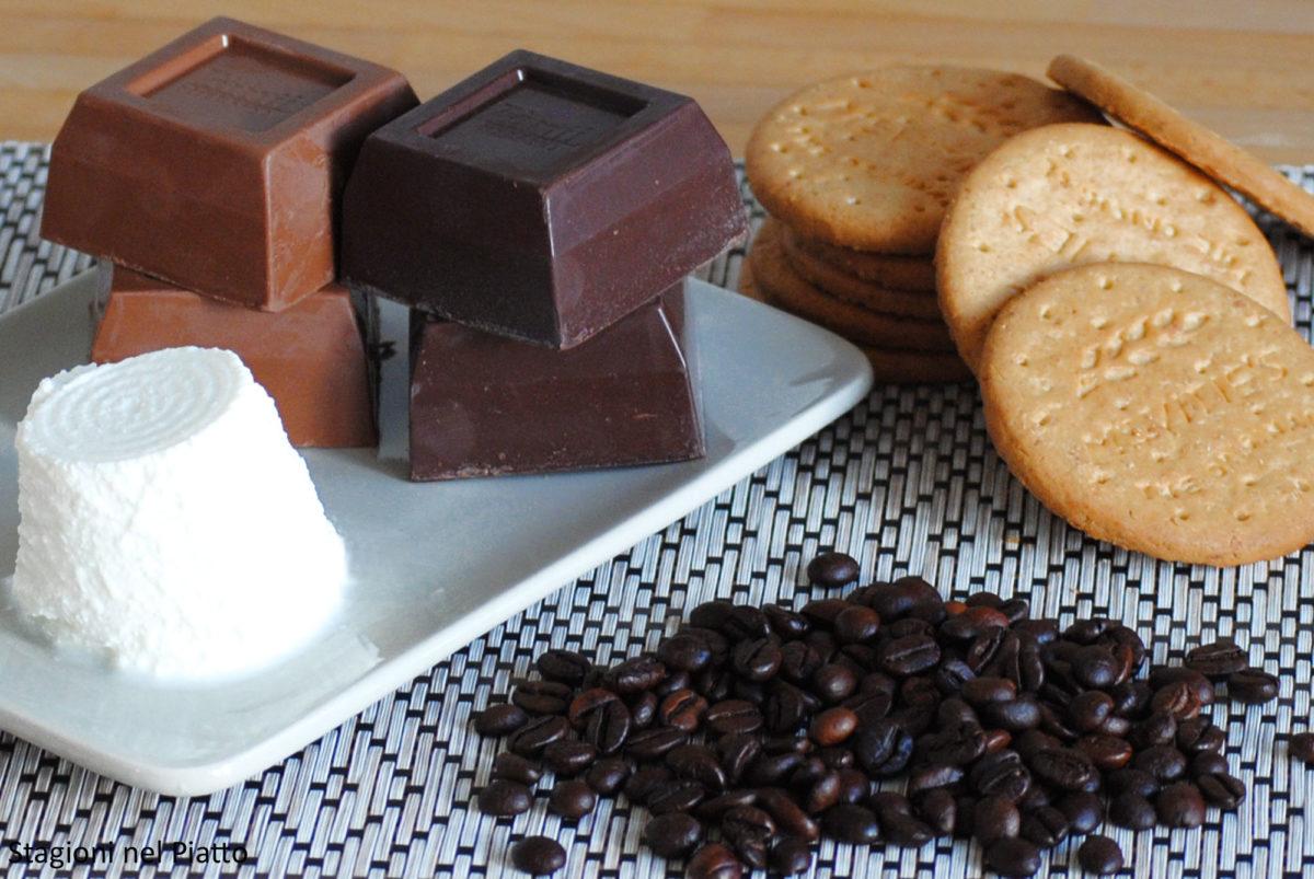 ingredienti torta fredda doppio cioccolato e caffè