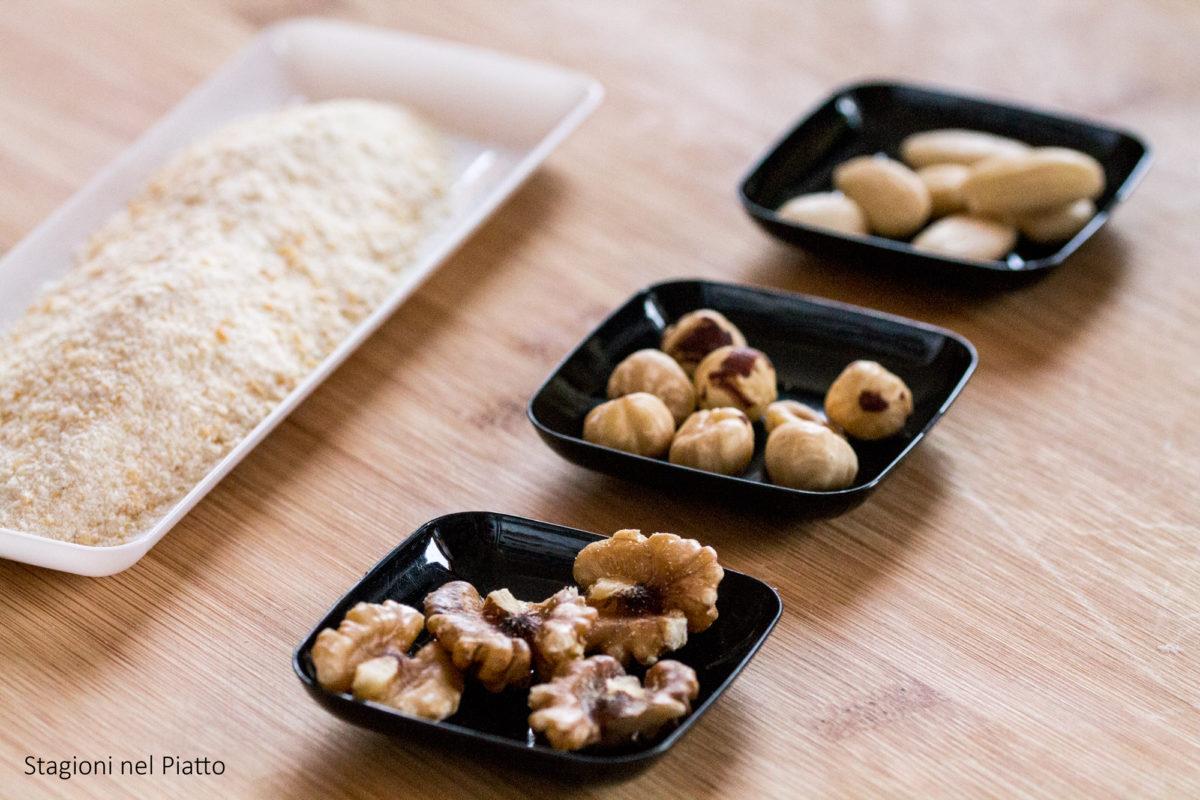 ingredienti filetti di platessa impanati alla frutta secca