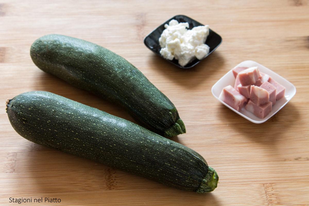 ingredienti sformatini freschi di zucchine