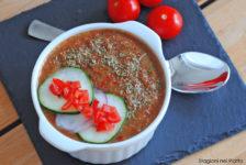 Gazpacho di pomodori e lattuga