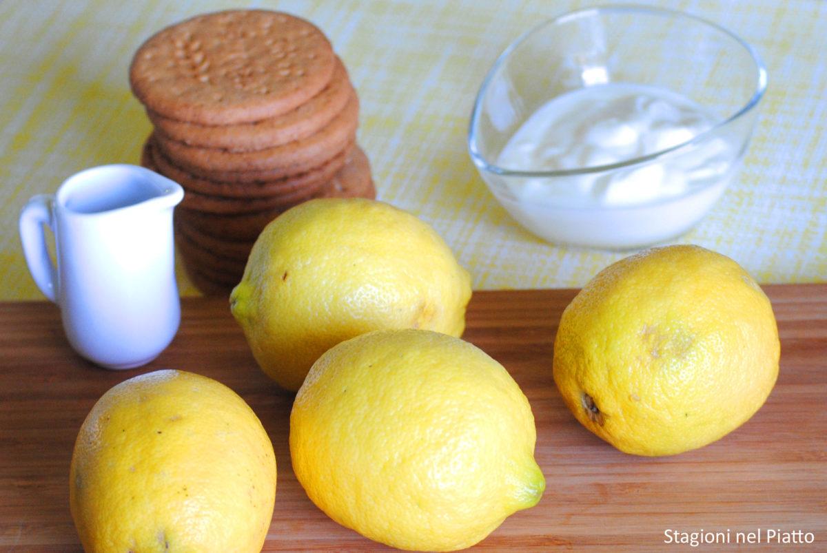 Ingredienti torta nuvola al limone