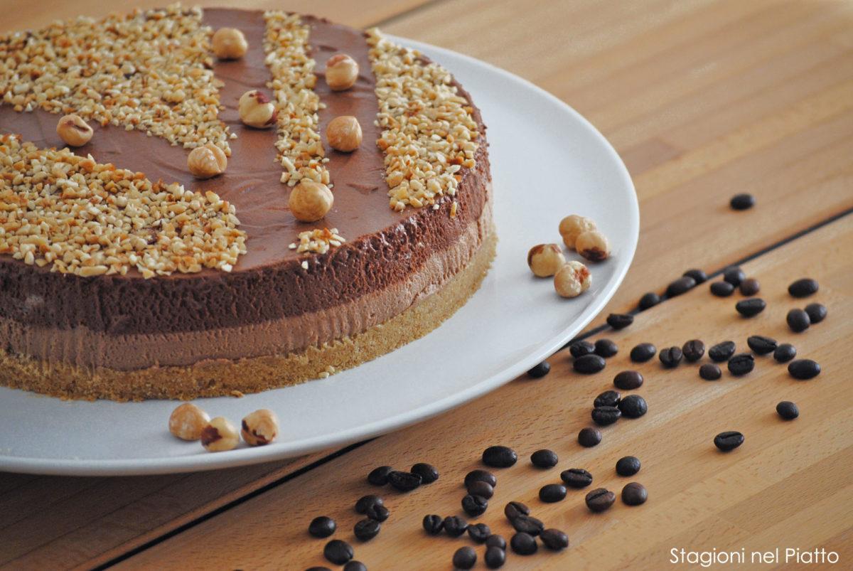 torta fredda doppio cioccolato e caffè