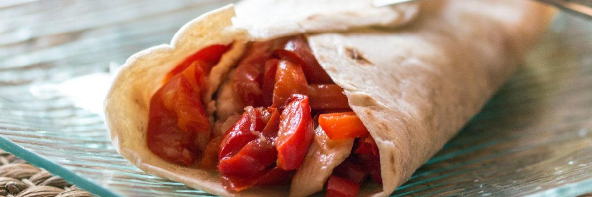 Tortillas con peperoni e pollo