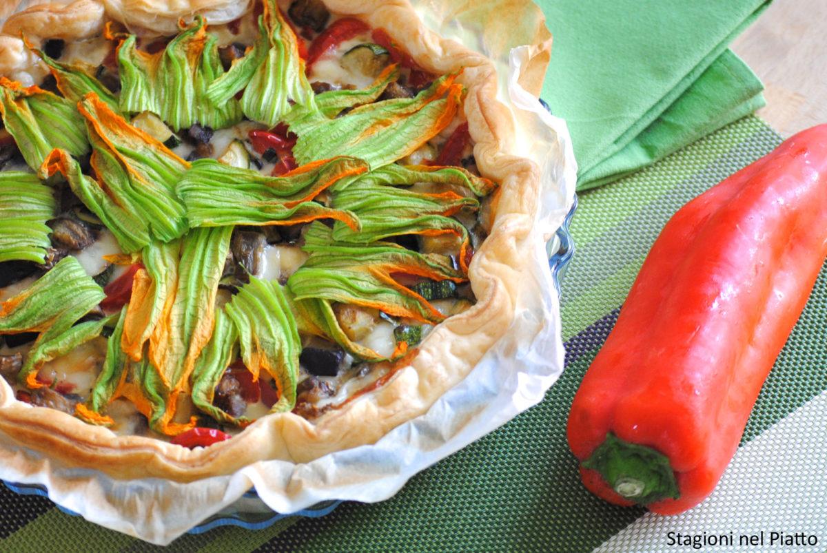 Torta salata alle verdure estive