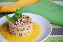 Bulgur con lenticchie e crema di zucca
