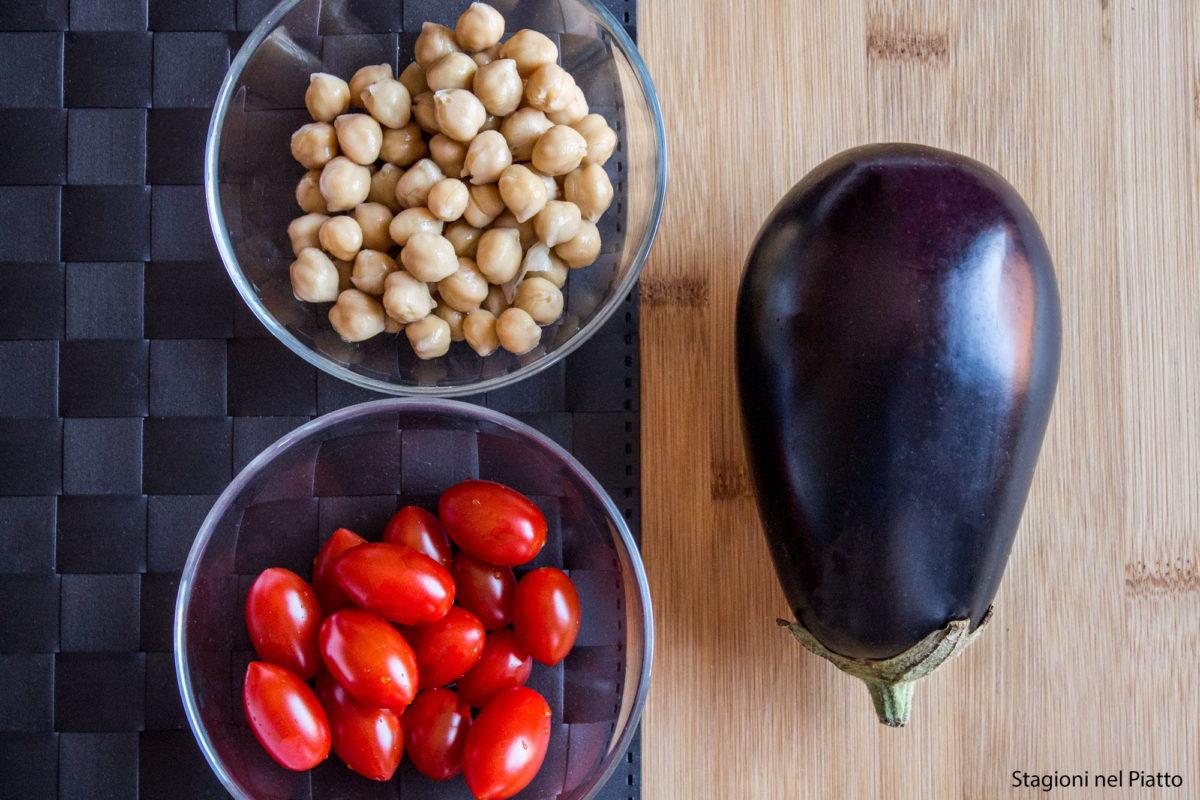 ingredienti crema fredda di ceci con pomodorini