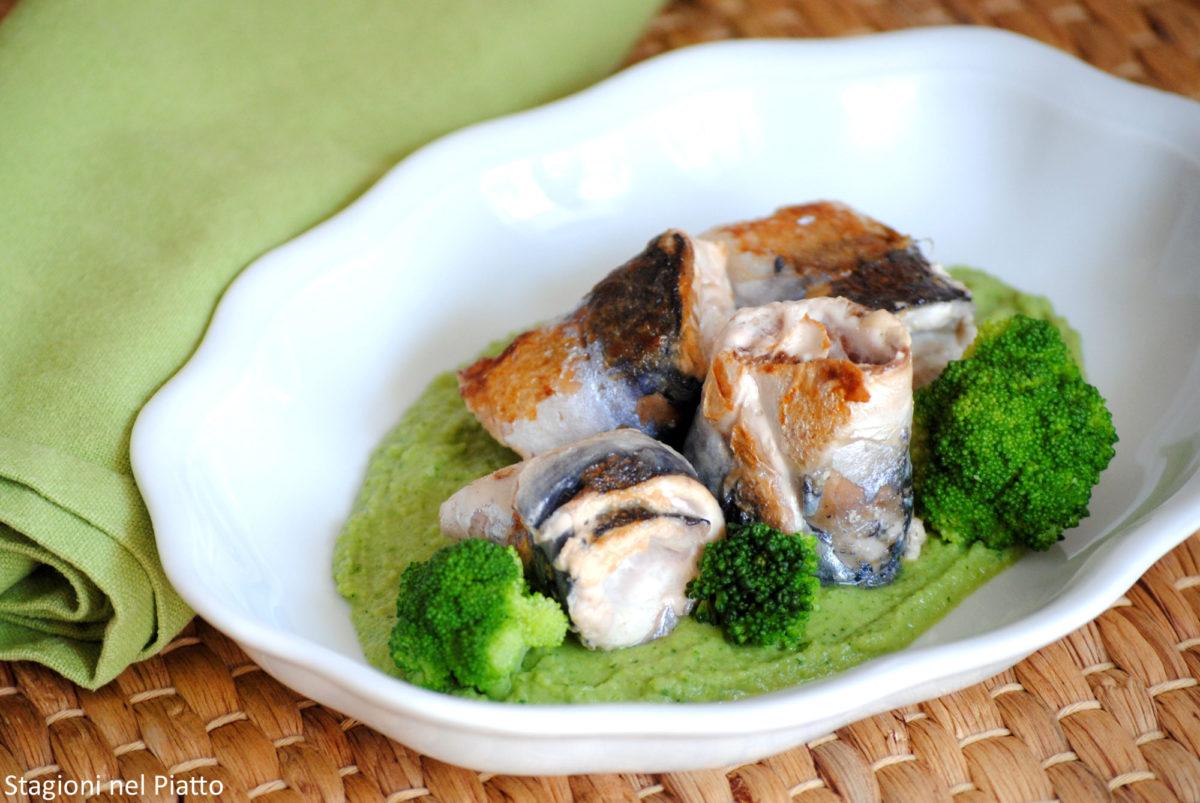 Filetti di sgombro con purè di broccoli
