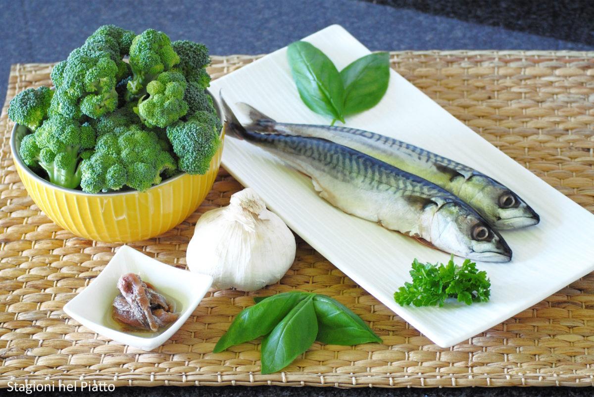 Ingredienti filetti di sgombro con purè di broccoli
