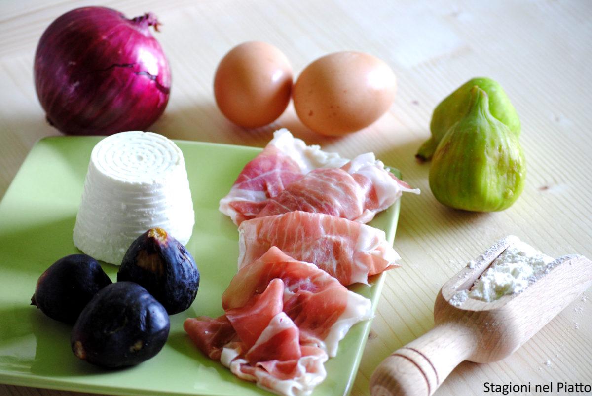 Ingredienti ravioli al prosciutto crudo con salsa ai fichi e aceto balsamico