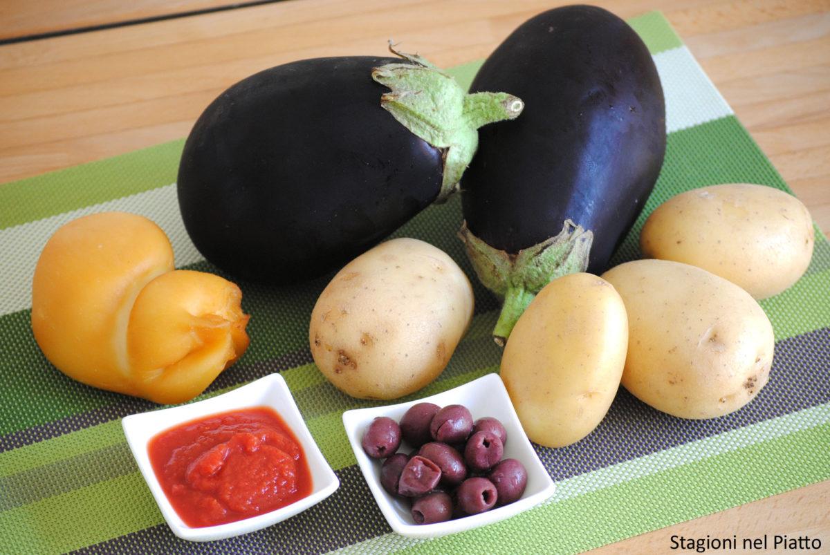Ingredienti sformato di melanzane e patate