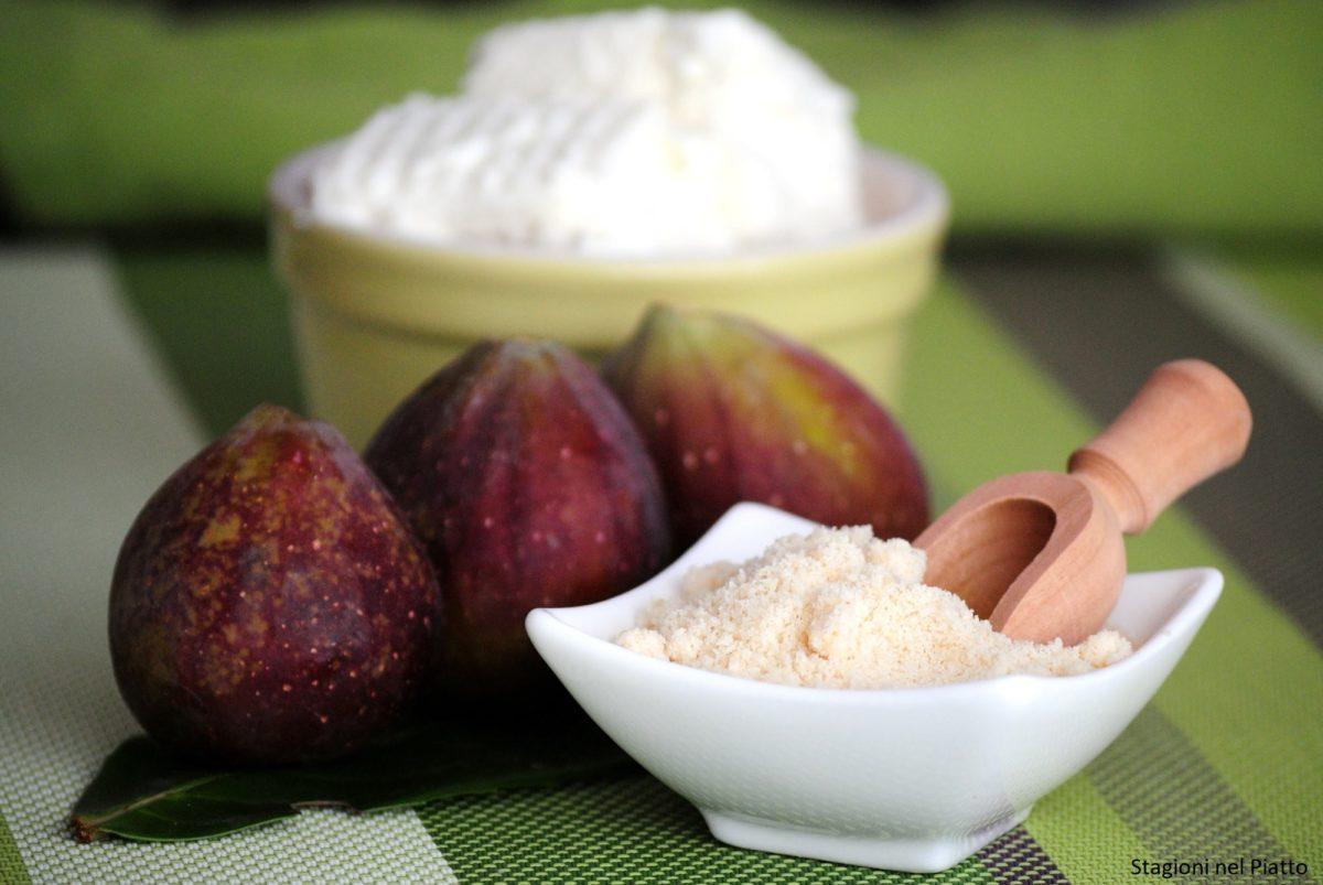 ingredienti cialde alla cannella con crema ricotta e fichi