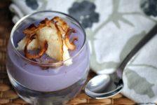 Baccalà mantecato con crema di patate viola
