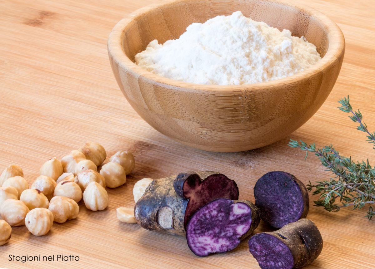 ravioli di patata viola e nocciole