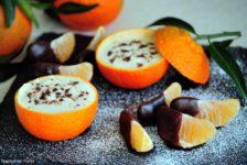 Clementini con crema allo yogurt e cioccolato
