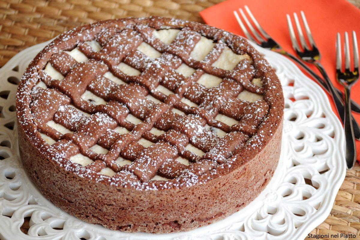 Crostata al cacao e crema di ricotta