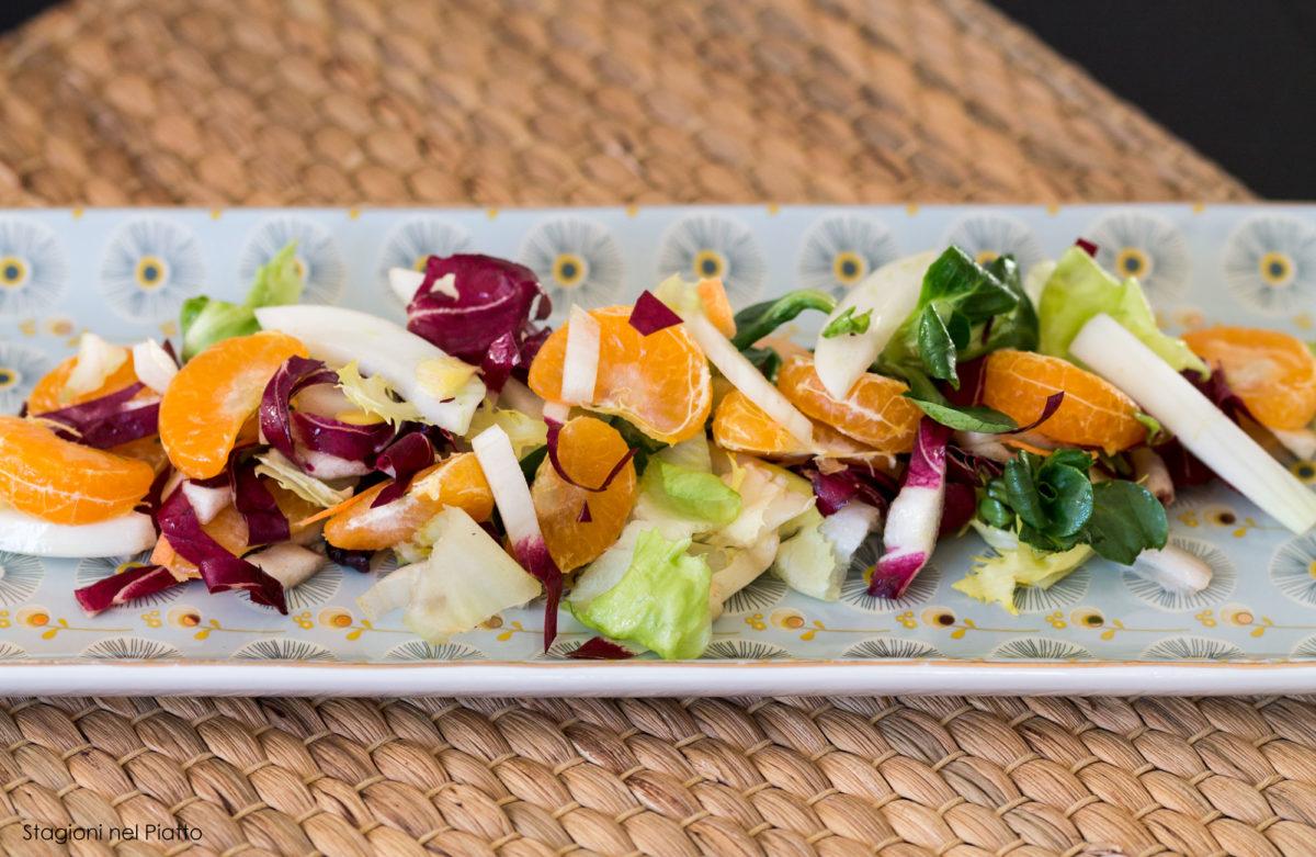 insalata invernale con il mandarino