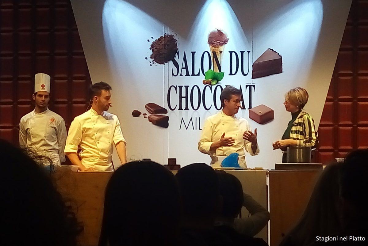 Showcooking besuschio Salon du chocolat Milano