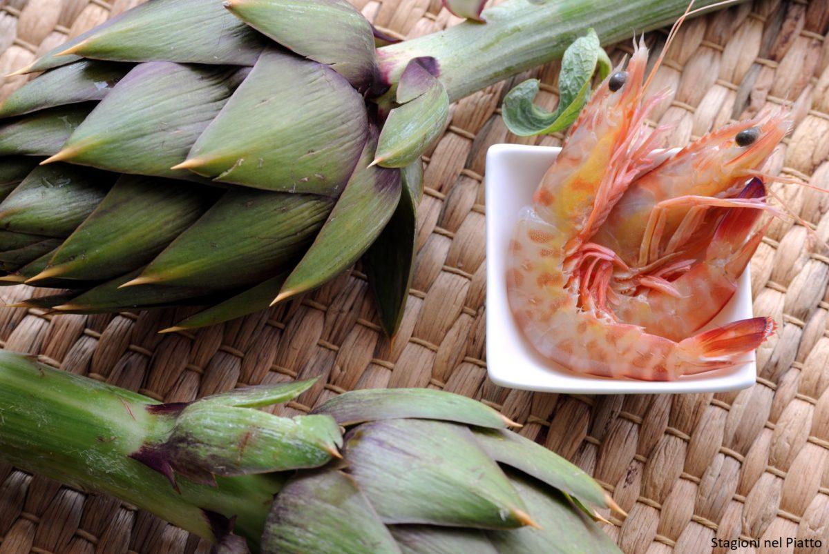 Ingredienti crema di carciofi e mazzancolle