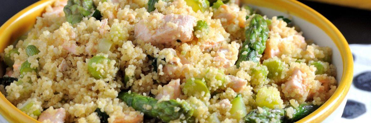 Cous cous con asparagi e salmone