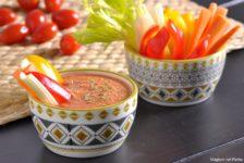 Gazpacho di datterini e crudité di verdure