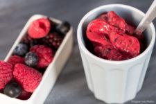 Sorbetto ai frutti di bosco senza gelatiera stagioni nel piatto