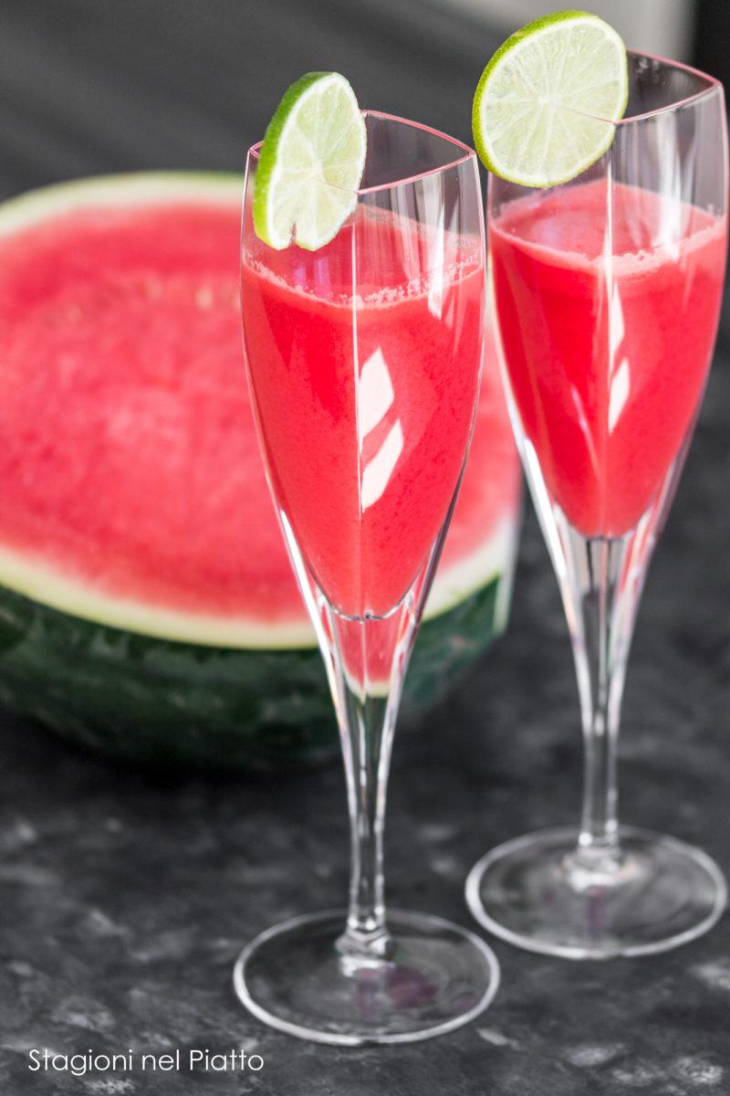 cocktail con anguria e prosecco