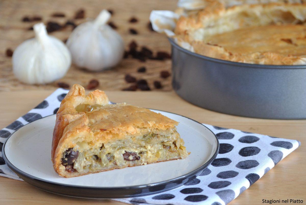 Torta rustica scarola e olive