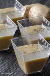 Crema di patate stagioni nel piatto