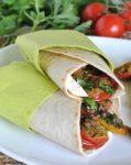piadina con verdure gratinate e fiordilatte