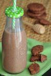 Frullato di banane e biscotti al cacao