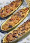 zucchine ripiene vegetariane stagioni nel piatto