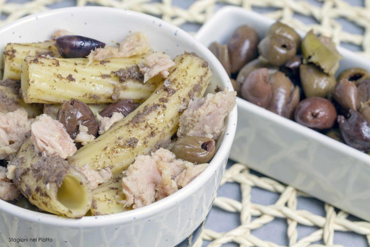 Pasta fredda tonno e olive