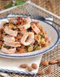 cous cous con calamari, zucchine e pomodori secchi