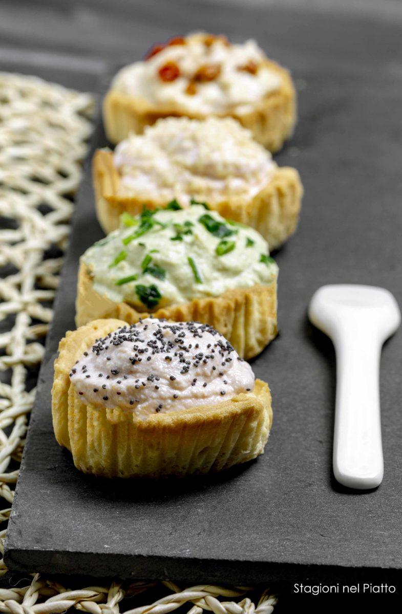 tartine di frolla salata stagioni nel piatto