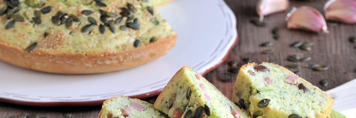 Ciambella salata con broccoli e prosciutto cotto
