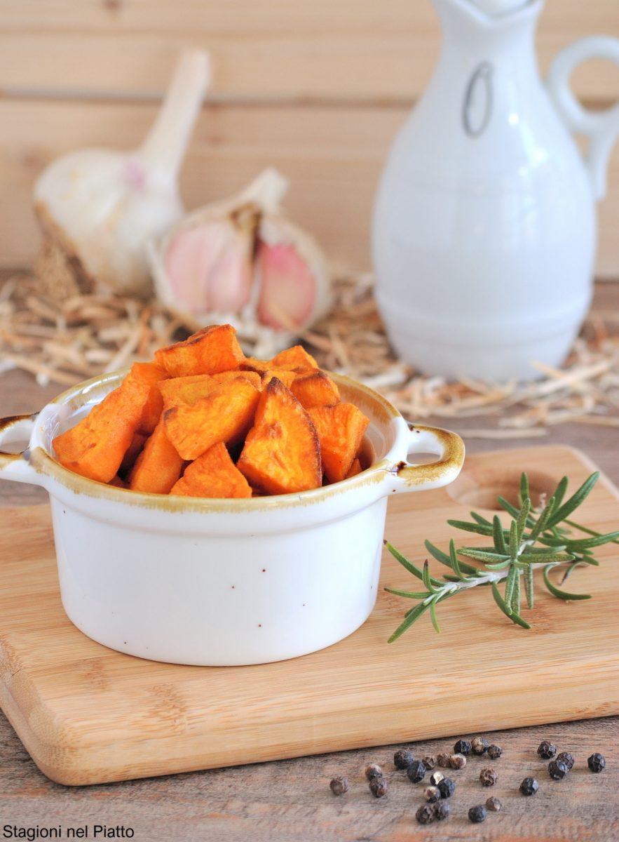 patate dolci al forno alla curcuma